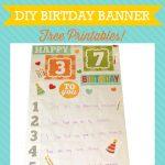 DIY Printable Birthday Banner