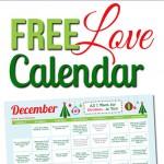 Free December LOVE Calendar