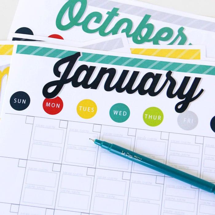 Babysitting Co-op Calendar