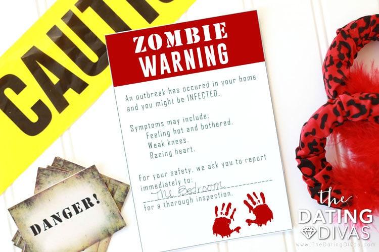 Walking Dead Bedroom Invitation