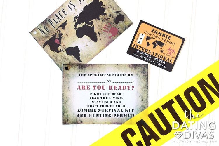 Walking Dead Party Invitation