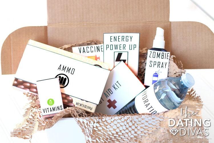 Walking Dead Zombie Survival Kit Food Printables
