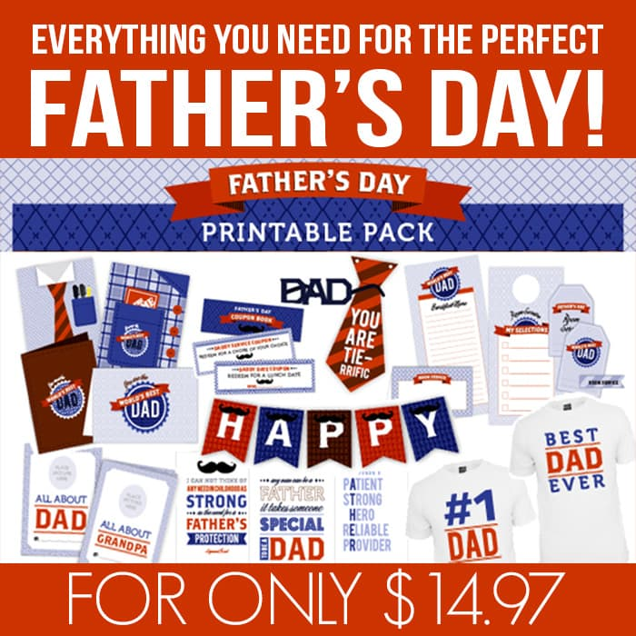 Printable fathers day games pack