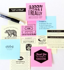 Post-It Note Pack sorry1