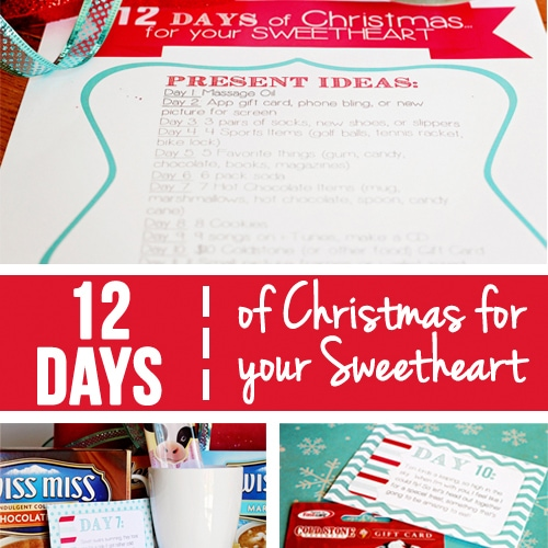 12 days of christmas countdown for your sweetheart - 12 Days Of Christmas Gift Ideas For Him
