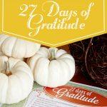 27 Days of Gratitude Challenge