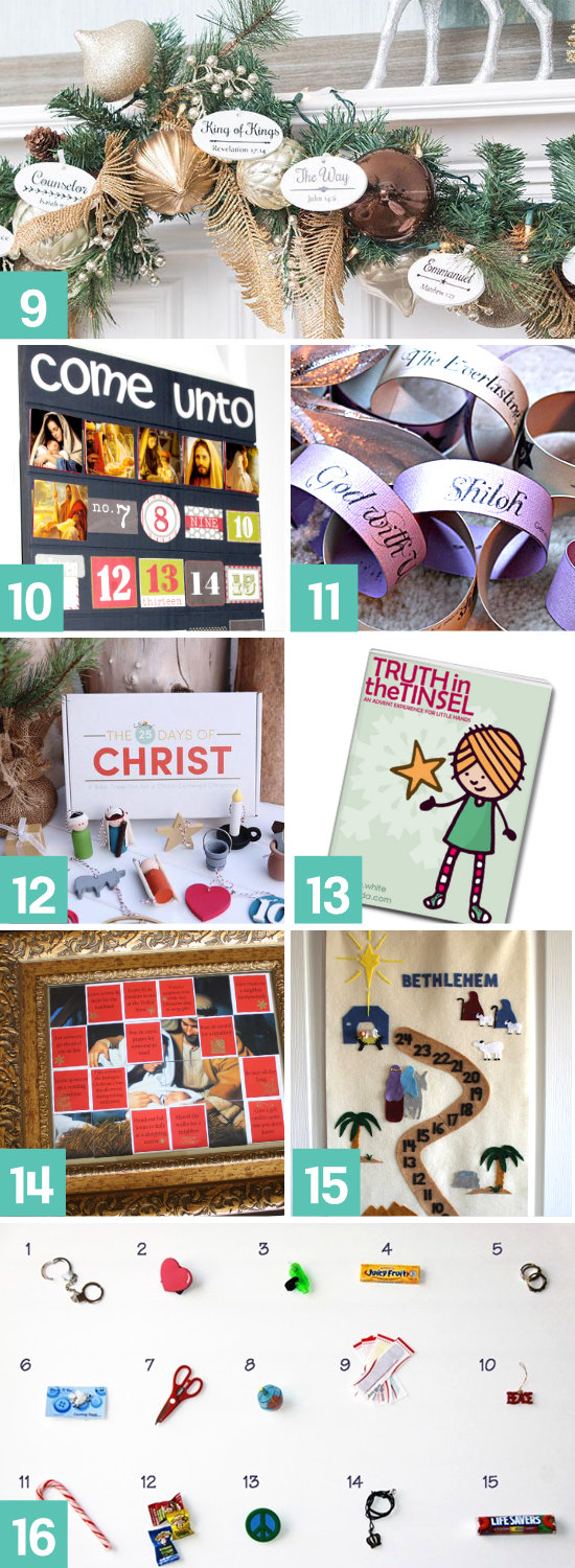 Help the kids remember the reason for the season with a Christ-Centered Christmas Countdown