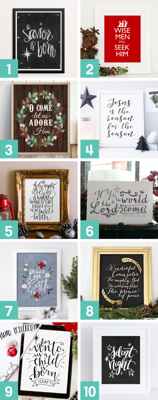 Christian Christmas Frames Printables Decorations Ideas 2020 12 Ways to Keep CHRIST in Christmas