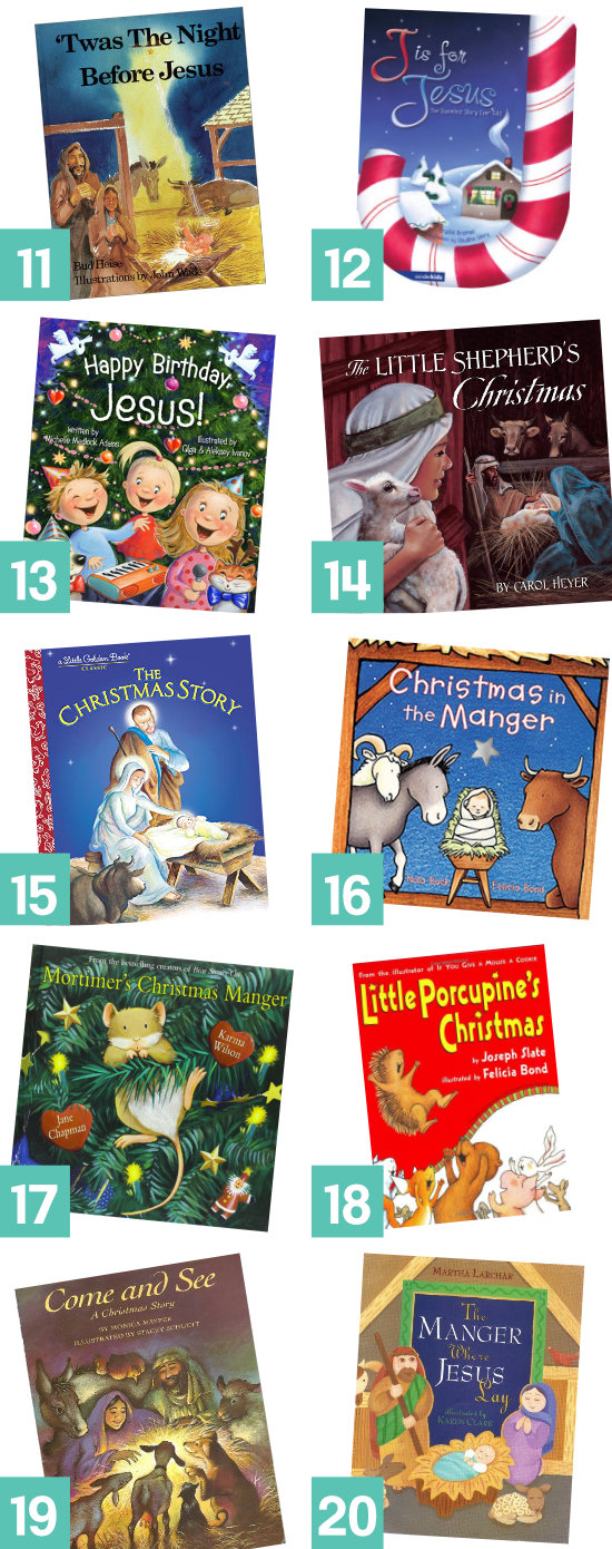 Storybooks to help keep CHRIST in Christmas. Read one every day counting down to Christmas.