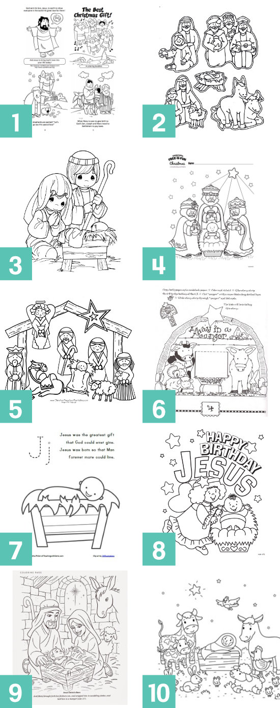 Free Christ Centered Christmas Coloring Pages