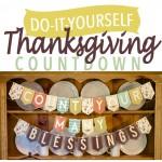DIY Thanksgiving Countdown Banner