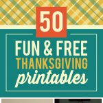 50 Fun & Free Thanksgiving Printables