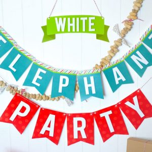 White Elephant Party Banner