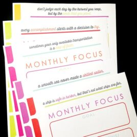 Complete set of printables for planning, finance, goal setting, meal planning, and more from thedatingdivas.com