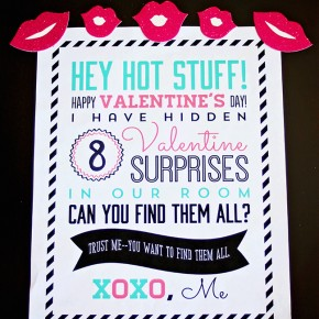Valentine Search & Find- a fun Valentine hunt for the hubby and kids