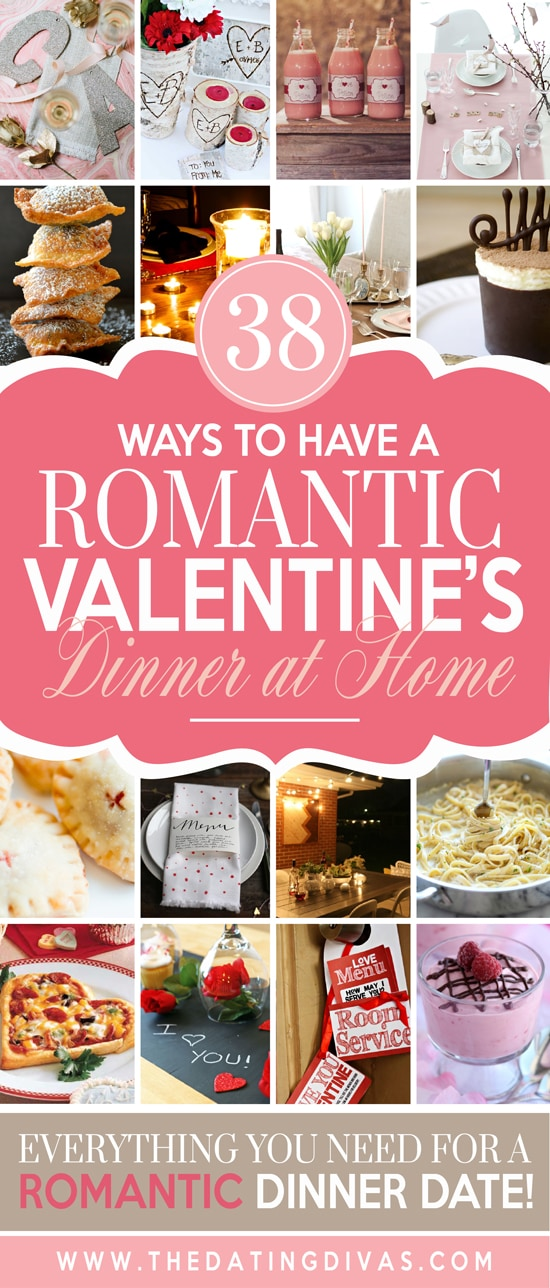 Ways to have a Romantic Valentine's dinner at home from The Dating Divas