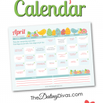 Free Printable April 2015 Love Calendar
