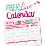 February 2015 Love Calendar