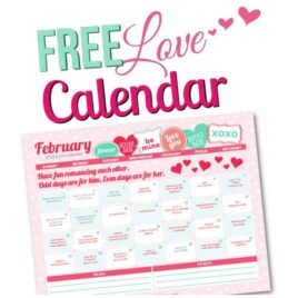 2015 February Love Calendar