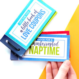 Love Coupon Book with a page showing that says naptime