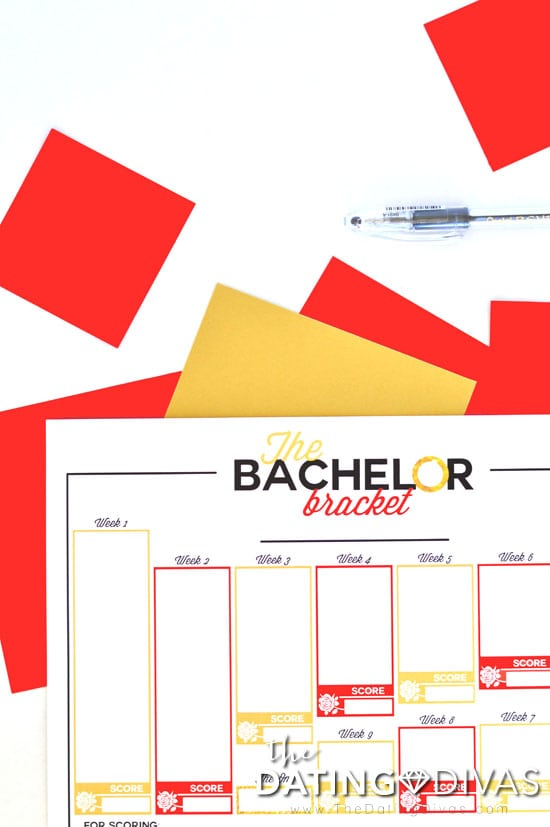 graphic about Printable Bachelor Bracket identify The Bachelor Most significant Bash