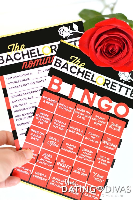 The Bachelorette BINGO