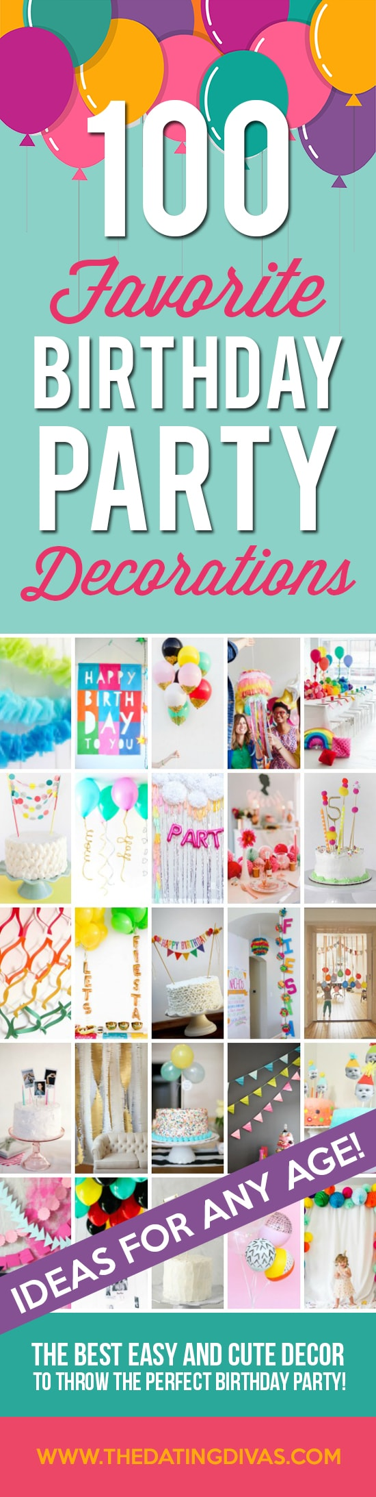 100 Of The Best Birthday Party Decoration Ideas Banner