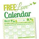 March 2015 Love Calendar