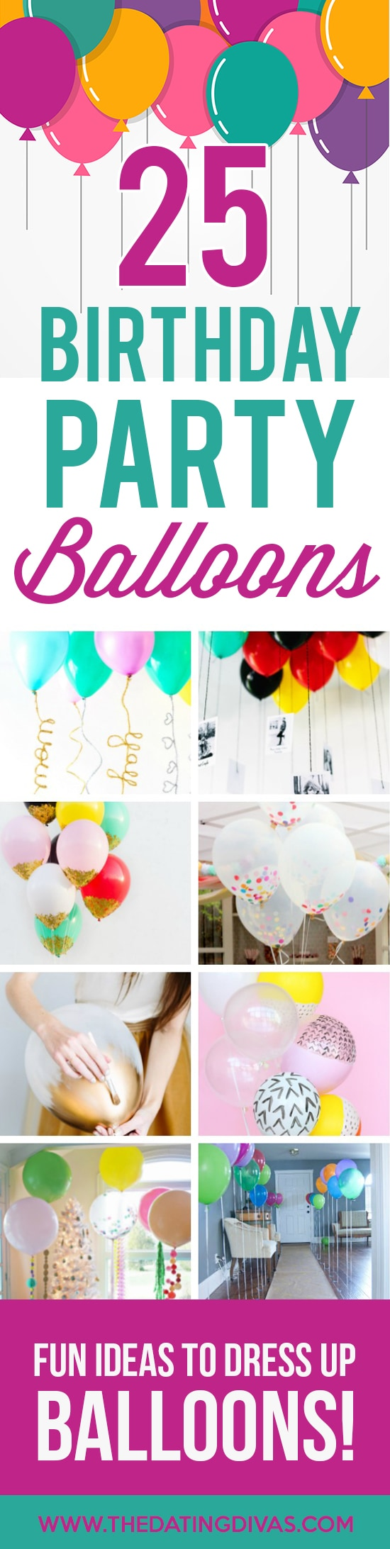 25 Creative Birthday Party Balloon Ideas banner