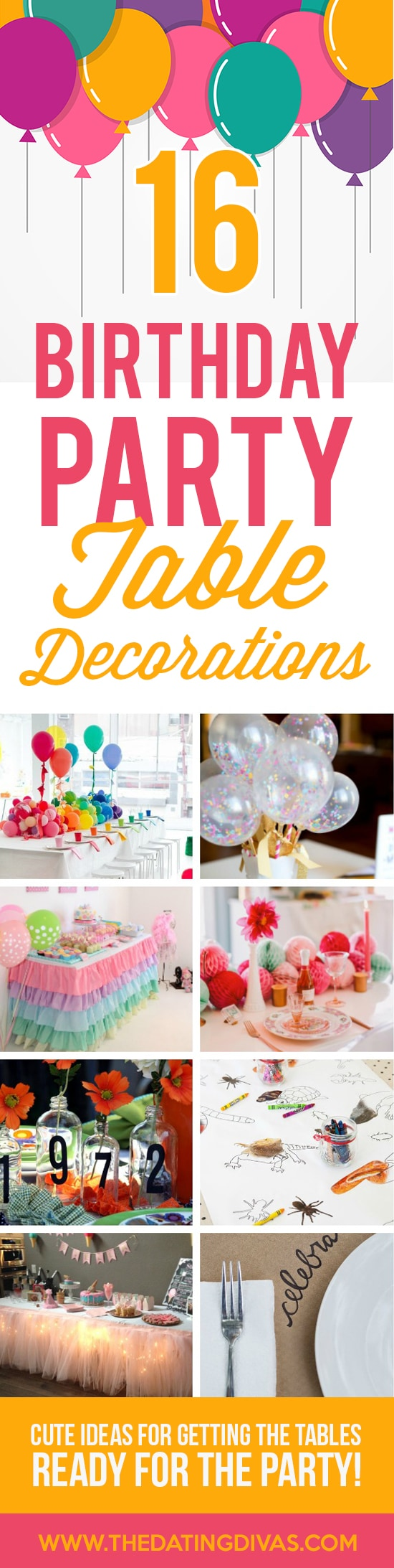 Birthday Party Table Decorations Banner