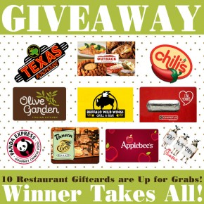 Blog Giveaway- $750 worth of gift cards are up for grabs!