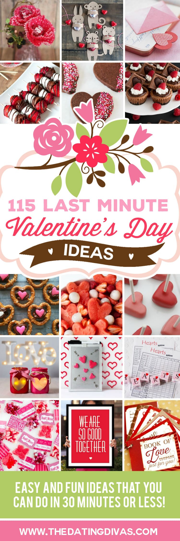 Last minute Valentine's Day ideas that you can do in 30 minutes or less! Who says Valentine's Day has to be stressful? We've got your back!