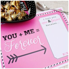 Love Story Placemat