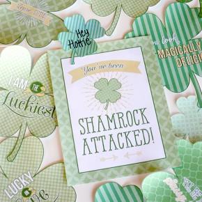 Shamrock Attack- free printables