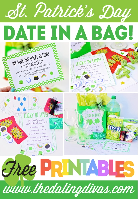 st patricks day date idea collage
