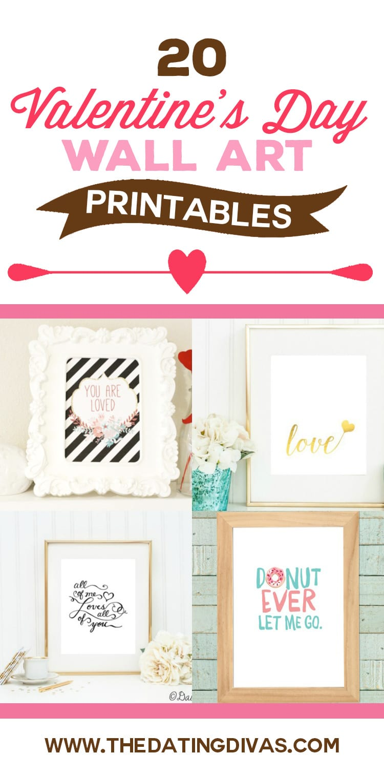 Last Minute Valentine's Day Printables and Wall Art