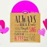 Valentine's Mixed CD Printables
