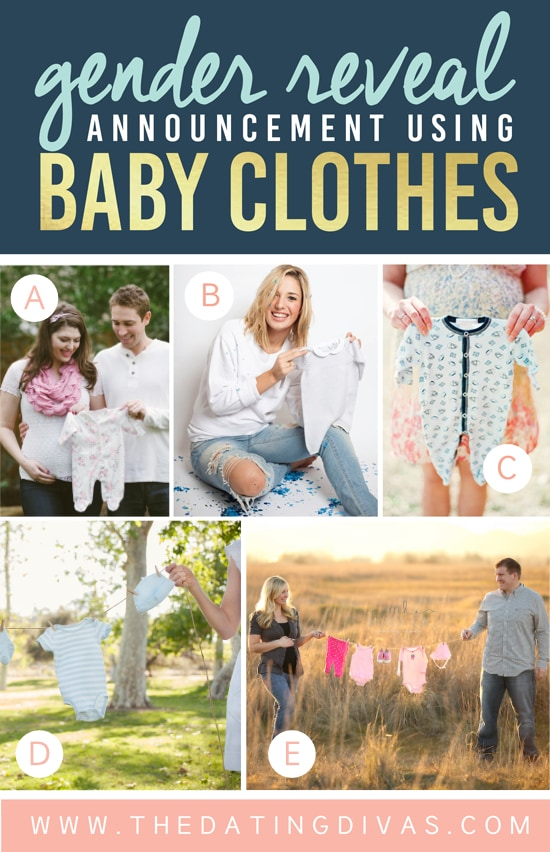 Gender Reveal Ideas Using Baby Clothes