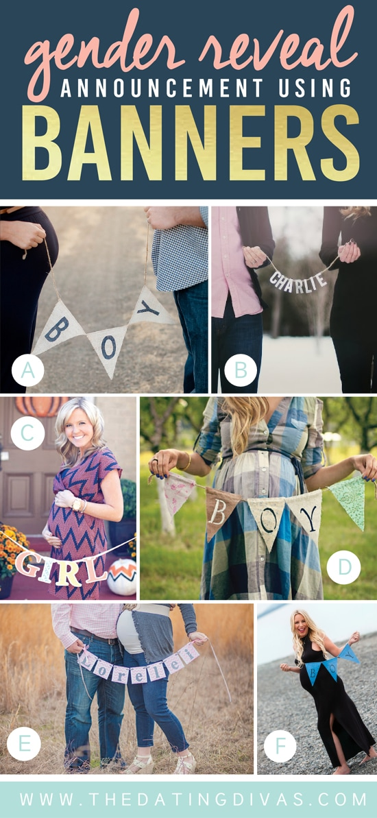 Unique Gender Reveal Ideas Using Banners and Signs