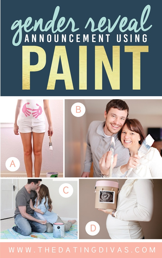Gender Reveal Announcement Using Paint