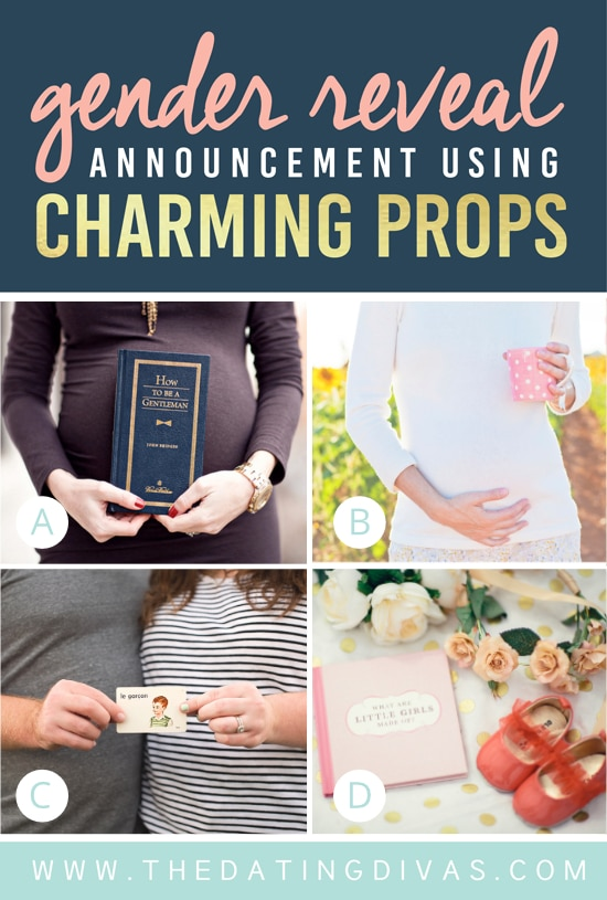 Gender Reveal Announcement Using Charming Props