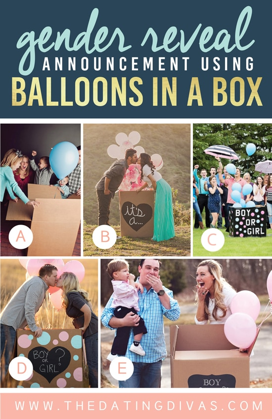 Gender Reveal Ideas Using Balloons in a Box