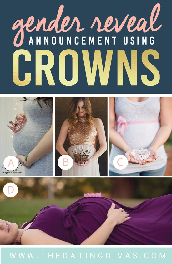 Cute Gender Reveal Announcement Using a Crown