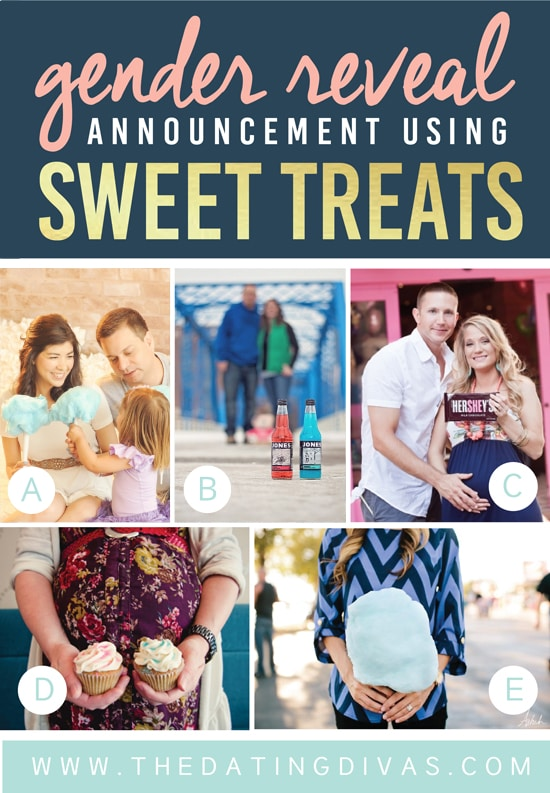 Gender Reveal Announcement Using Sweets