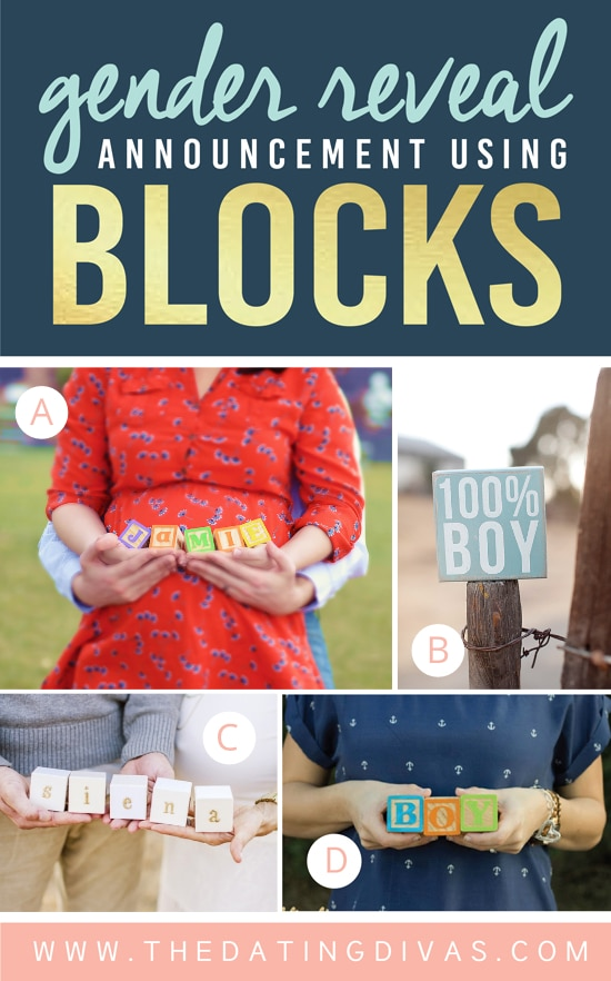 Cute Gender Reveal Announcement Using Blocks