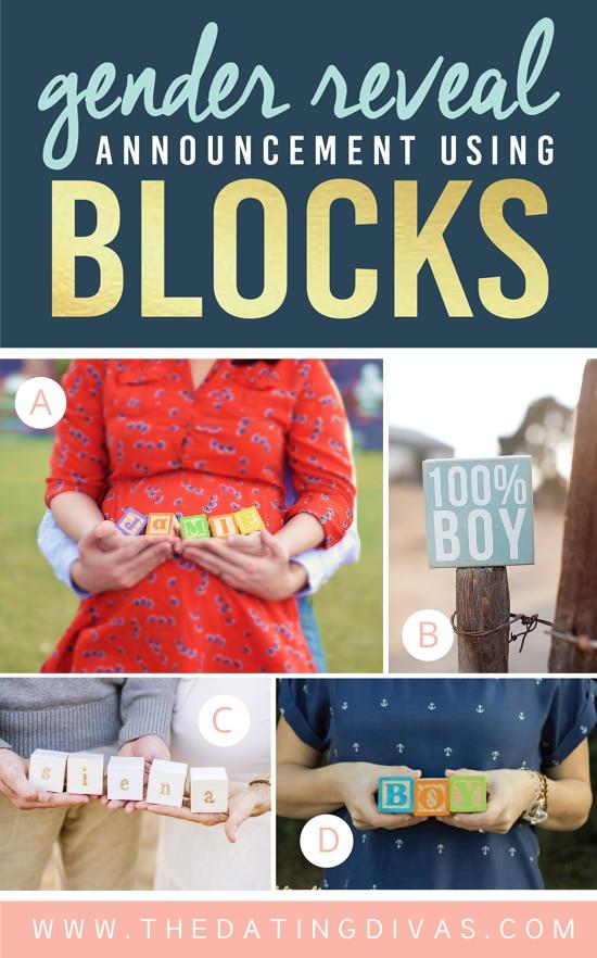 Gender Reveal Announcement Using Blocks
