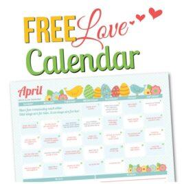 April Love Calendar