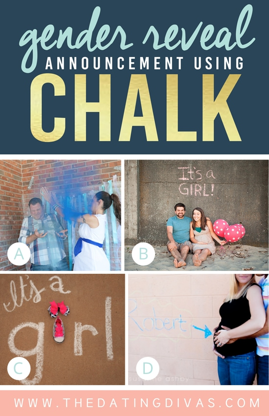 Gender Reveal Ideas Using Chalk