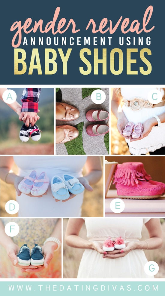 Gender Reveal Announcement Using Shoes