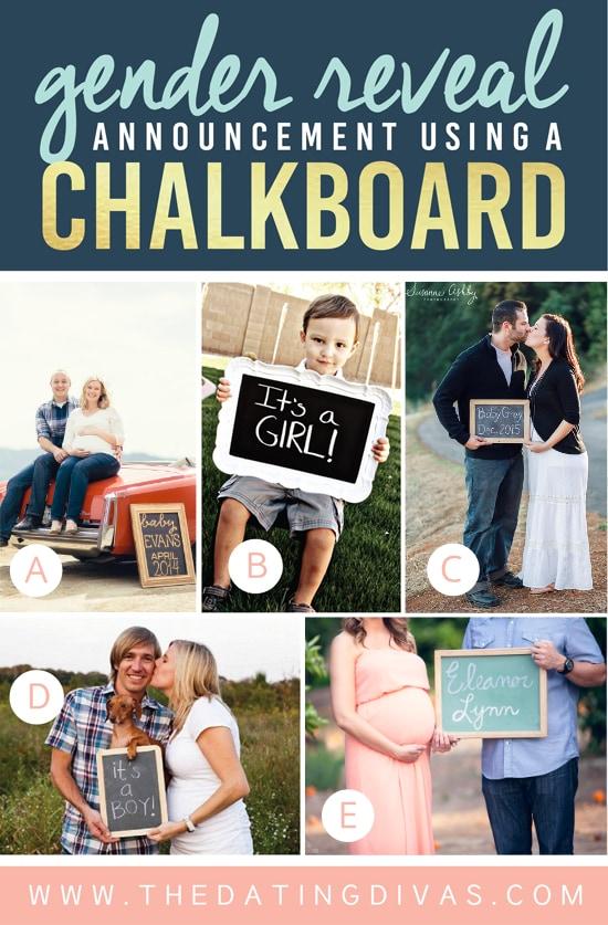 Gender Reveal Ideas Using Chalkboard